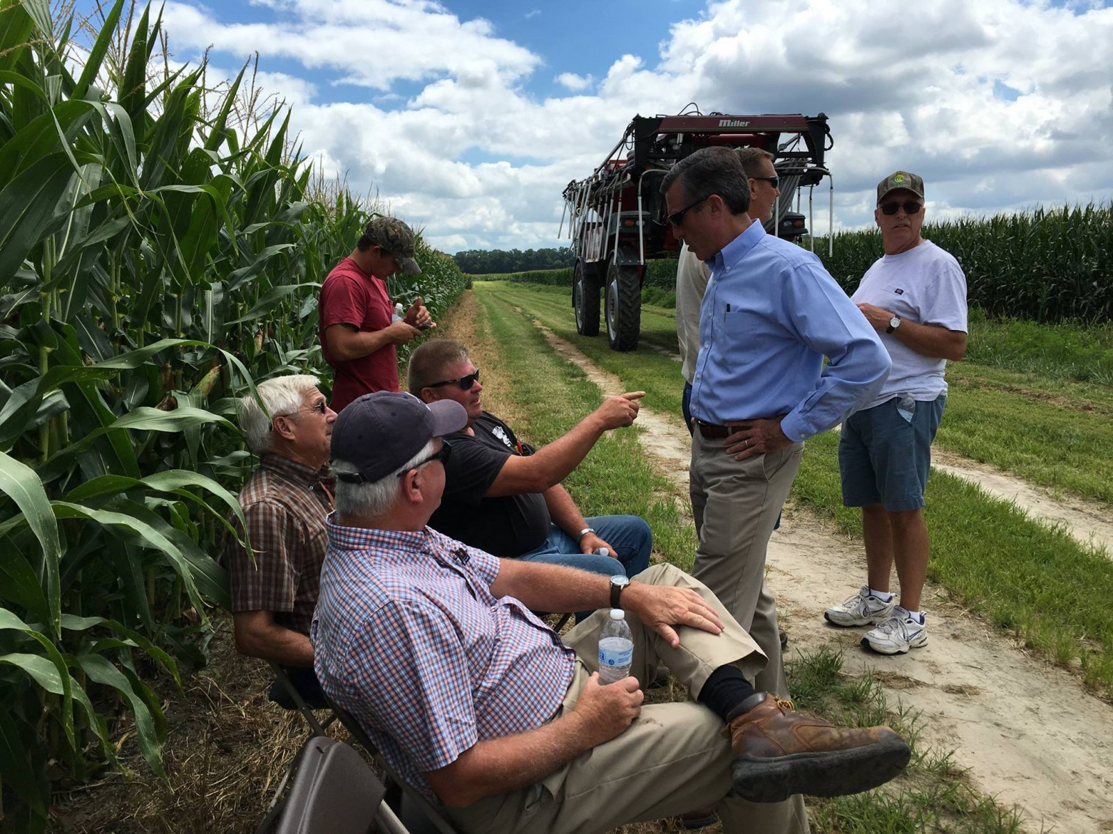 Governor Carney visits a Soil Health Field Day in Sussex County