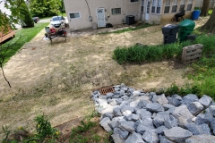 Backyard Drainage System in New Castle County