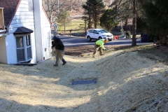 Drainage Swale to Prevent Flooding from Stormwater Runoff in New Castle County