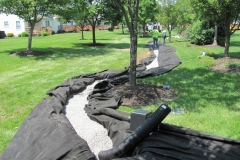 Drainage Tile Line and Swale Installation in New Castle County